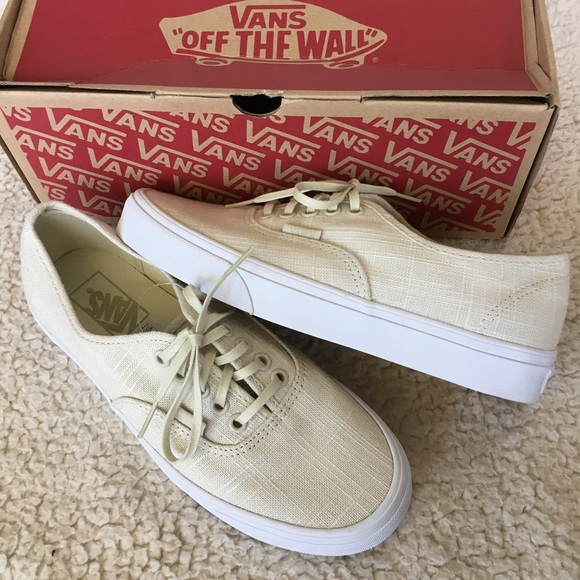 4c87a5dd9208e1 NIB Vans Hemp Linen Authentic Sneakers